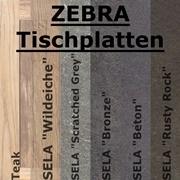 Zebra Tischplatten