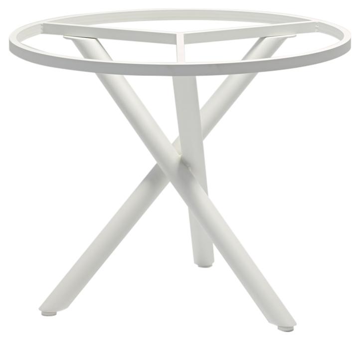 Zebra Mikado Aluminium Tischgestell rund weiß 6228 XL-Gartenmöbel ...