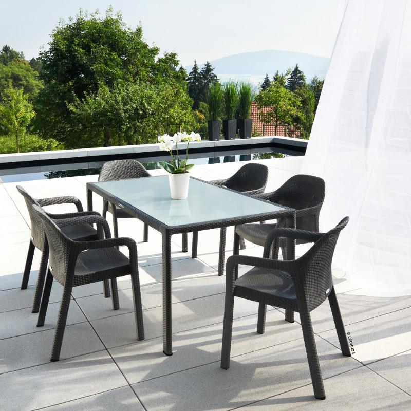 Lechuza Stapelstuhl granit XL-Gartenmöbel Onlineshop