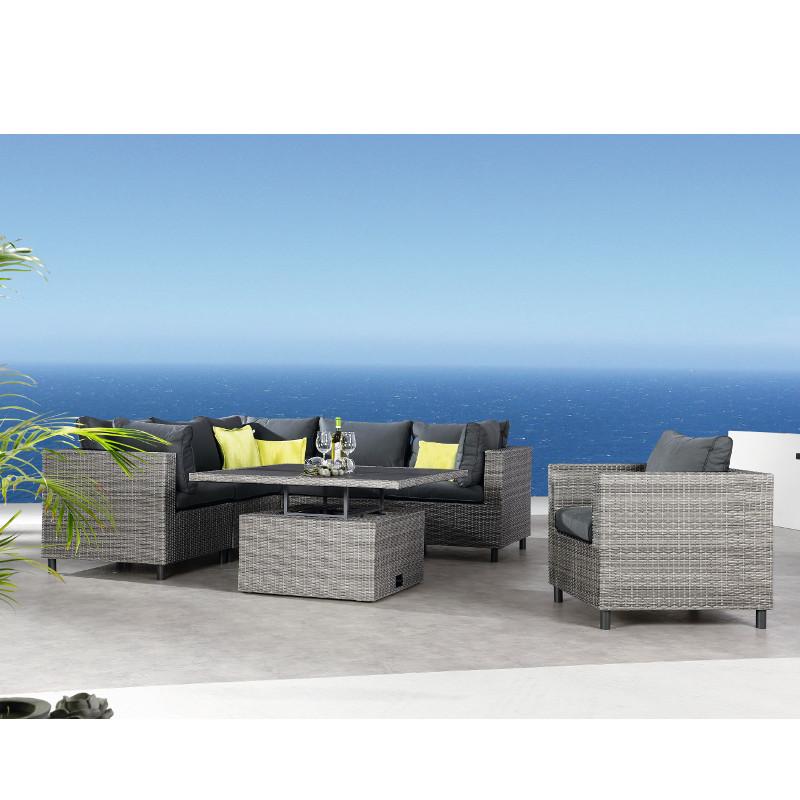 Best BONAIRE Lounge Sessel mit Kissen und praktischer Up- & Down ...