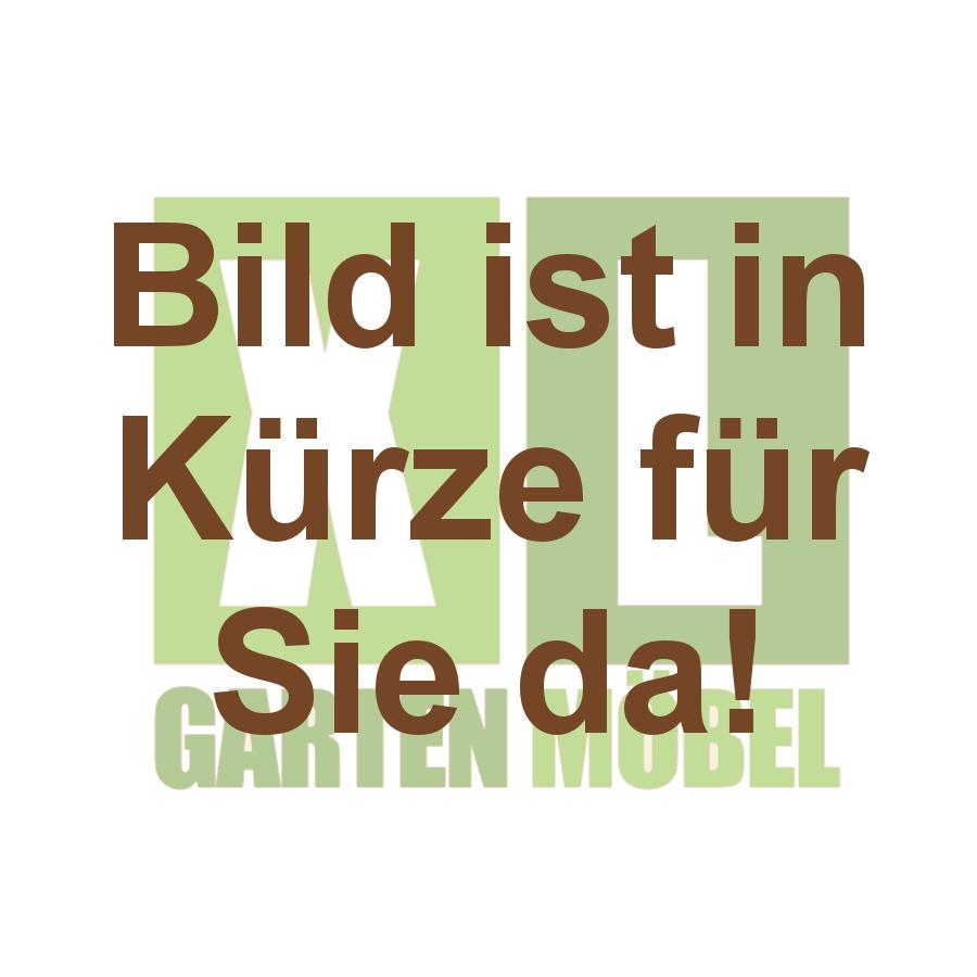 Stern Tisch 160 x 90 cm Edelstahl rund / Teak