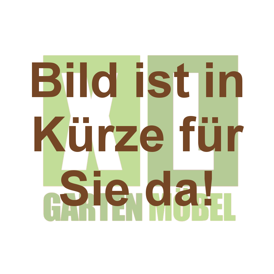 Diamond Garden MONACO 3er Bank Edelstahl schwarz/silber DiGa10677-3